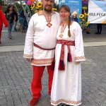 "С мужем на празднике ""На Руси живем!"""